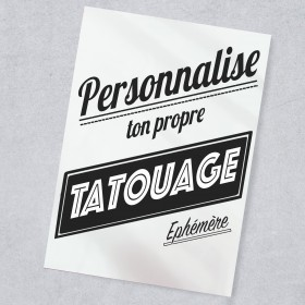 TATOUAGE EPHEMERE (de 3 à...