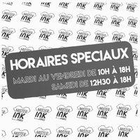 ‼️En raison des mesures sanitaires actuelles nous modifions provisoirement nos horaires : Du mardi au vendredi de 10h à 18h. Le samedi de 12h30 à 18h. Toujours Ouvert !!! 💪🔥💪 ⚡️www.mrink.fr⚡️